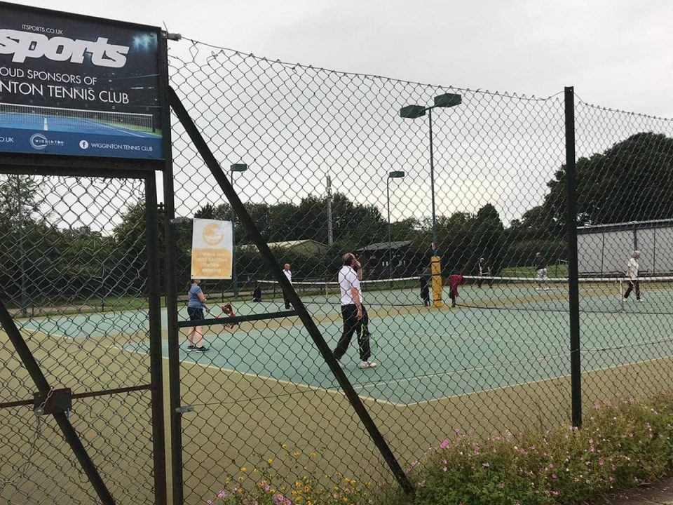 Players in action on the courts