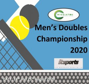 Mens Doubles Club Championship 2020 poster