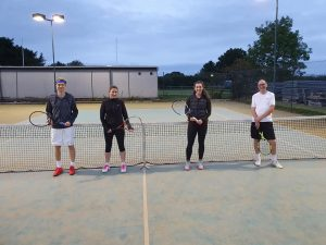 Mixed Doubles finalists - Nils Morosz and Sarah Blacker, Phil Anderson and Eleanor Bradshaw
